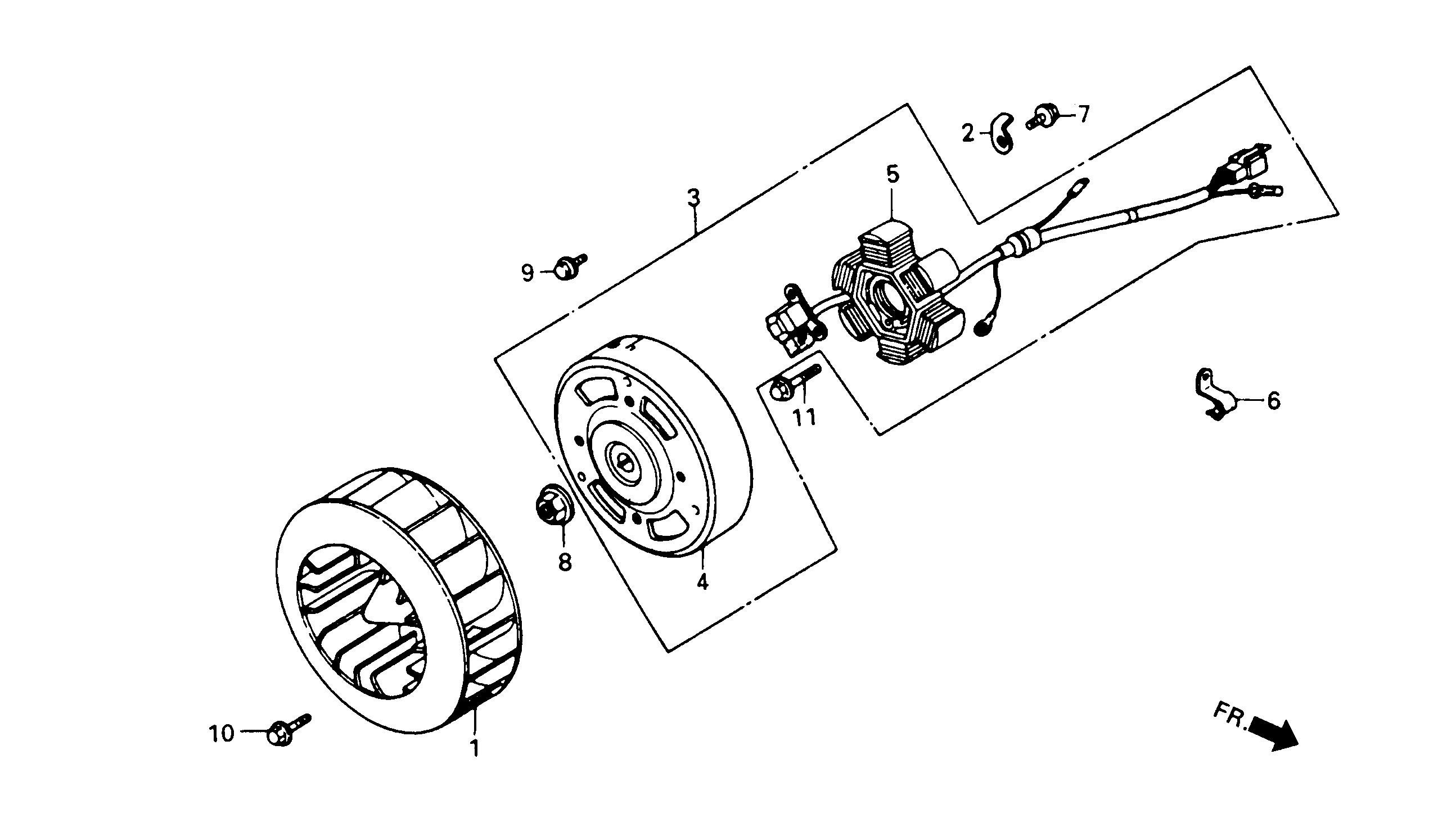 lichtmaschine / gebläserad   baugruppen motor   tkr 50 vgas1aada