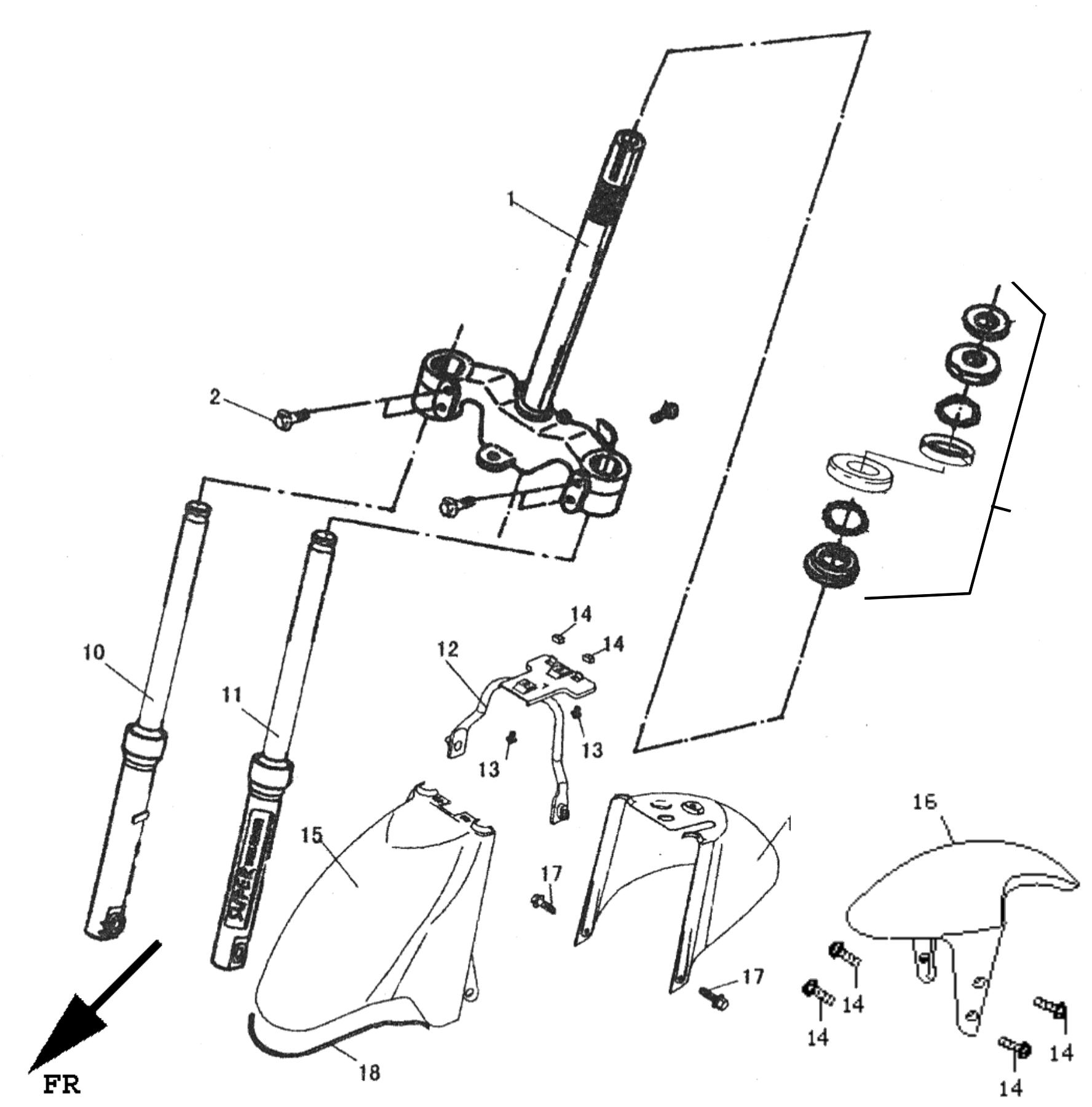 Vorderradgabel Scheibenbremse Kotflgel Vorn Rahmen Aufbau Peugeot Transmission Diagrams Baugruppen V Clic Laeagz4 Roller Ersatzteile Quad