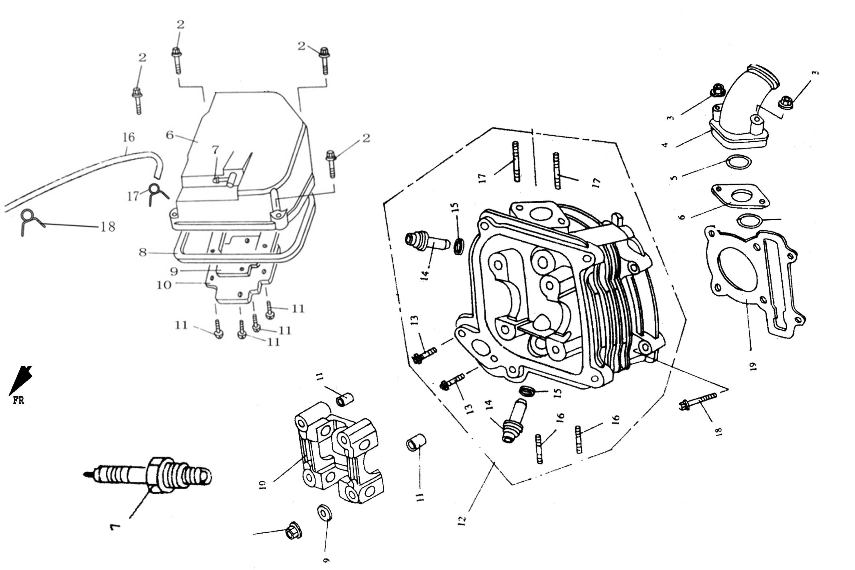 05-11 Yamaha YBR 125 Hauptst/änder Mittelst/änder St/änder 4-Takt
