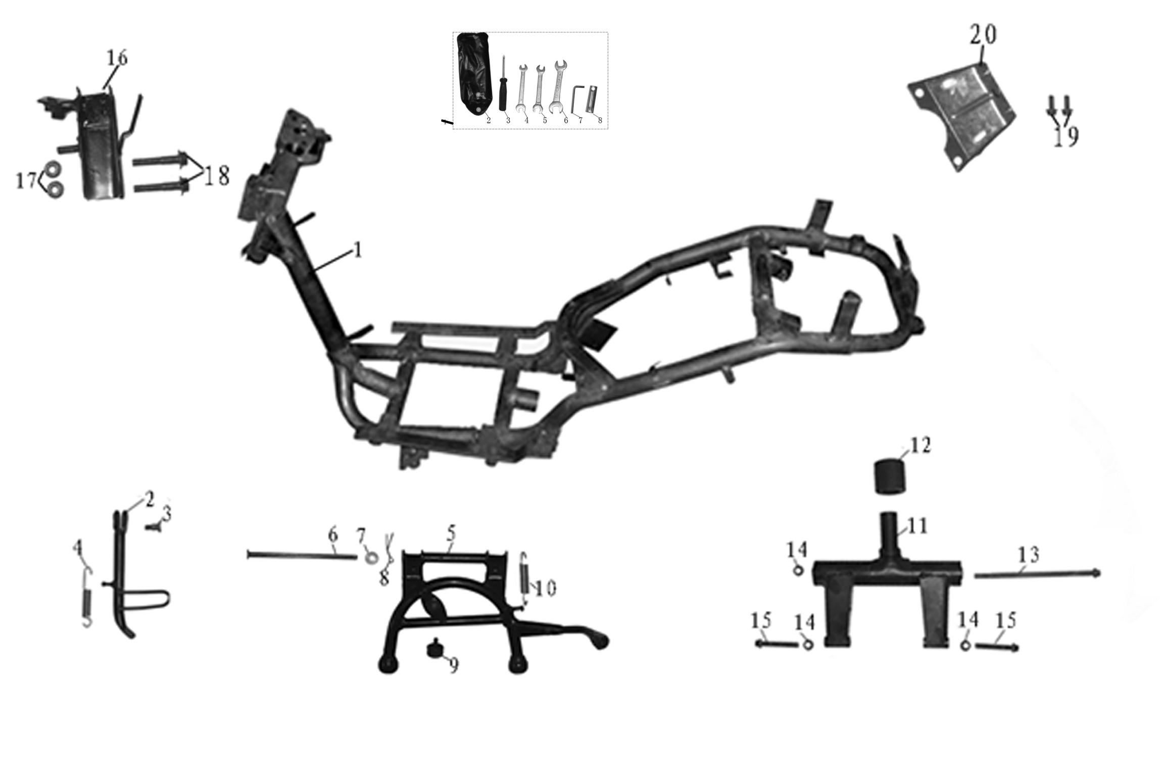 Baugruppen Aufbau/Fahrgestell | Toscana 50 | RIVERO | Roller ...